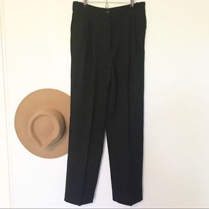 Valentino straight leg crepe cropped trousers